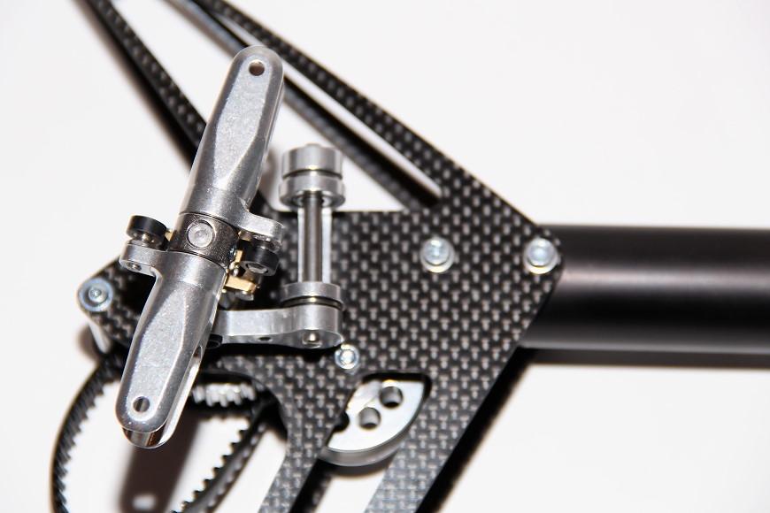 Henseleit TDF - Heckgetriebe: Mit montierten Blatthaltern