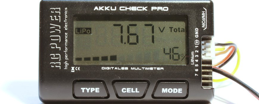 Akku Check Pro RC Power Digitales Multimeter