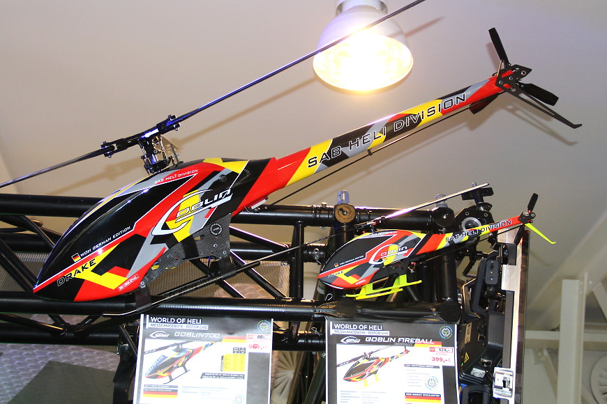 ROTOR live 2019: SAB Goblin 700 und Fireball Drake Germany Colours