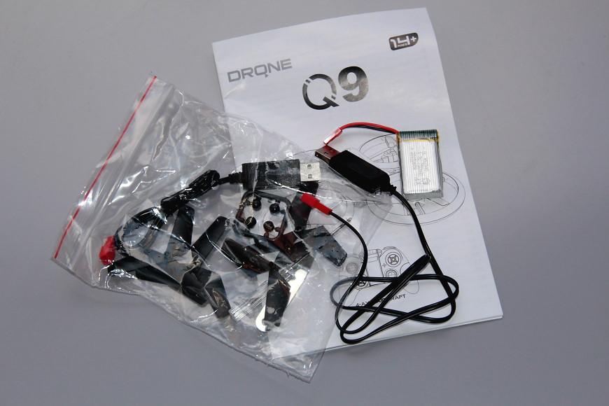 Avialogic Q9 Drone mit LED Beleuchtung (blau & grün) - Bedienungsanleitung und Zubehör
